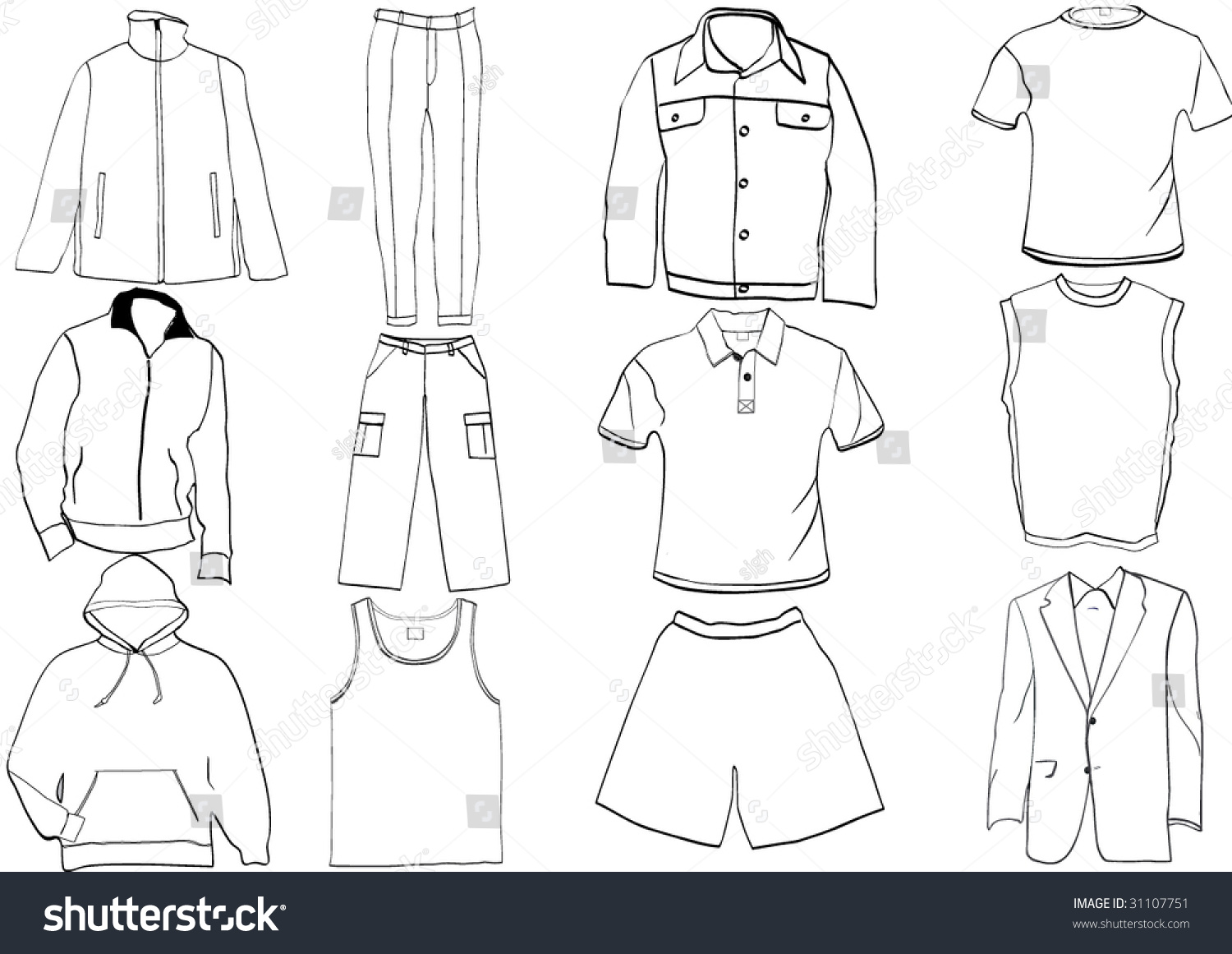 clothes template - Keni.candlecomfortzone.com