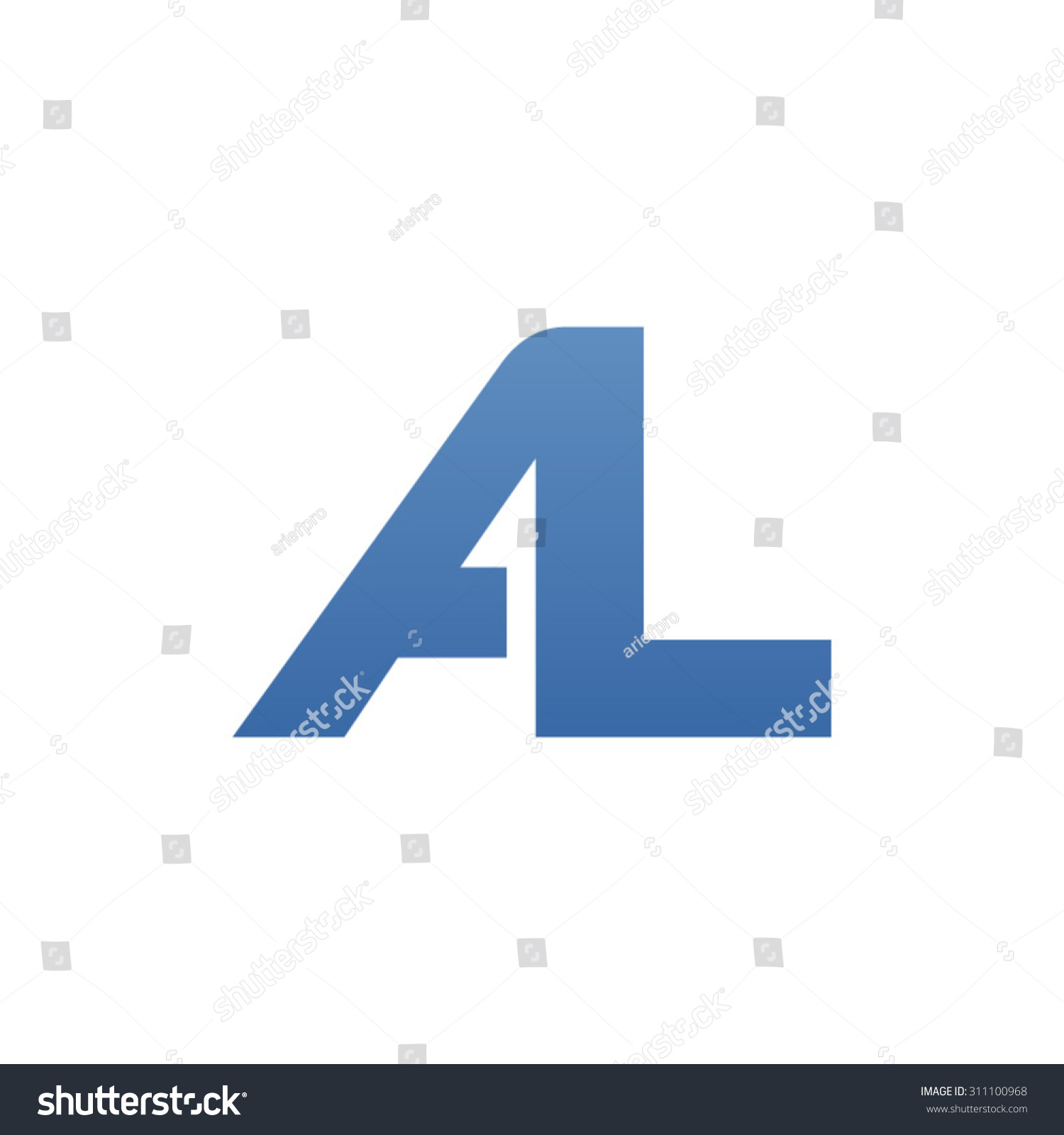 Al Letter Logo Connected Stock Vector 311100968 Shutterstock