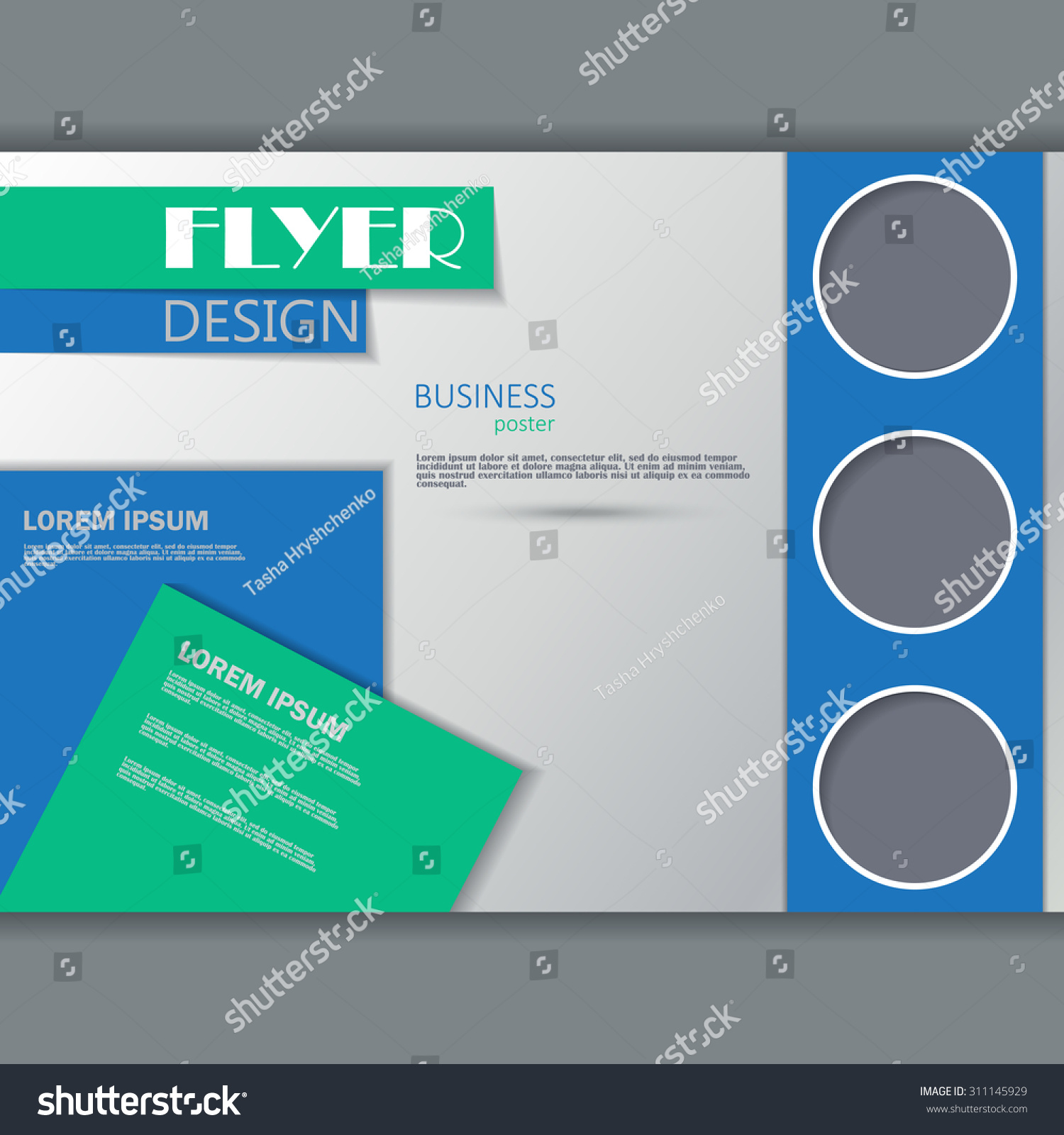 horizontal brochure template - vector horizontal flyer template business brochure