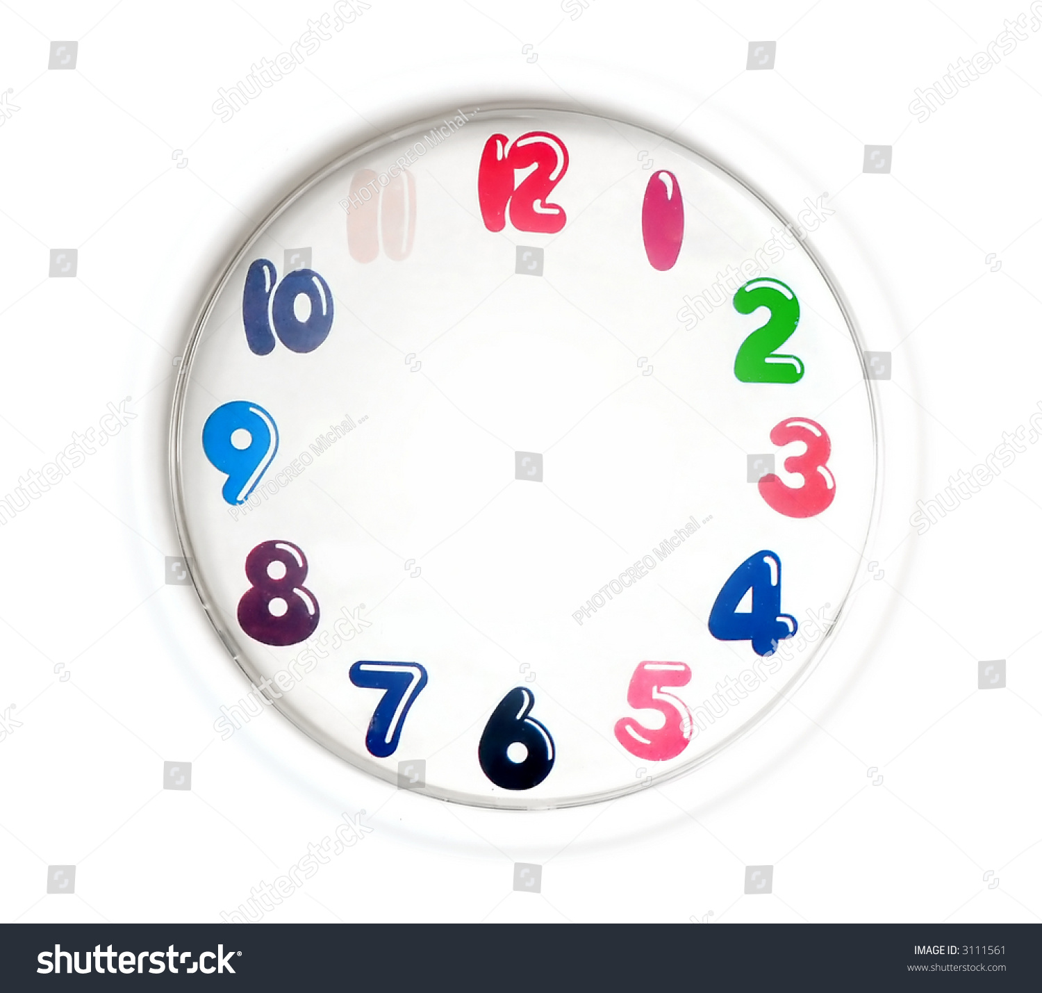 simple analogue clock easy editable without stock photo