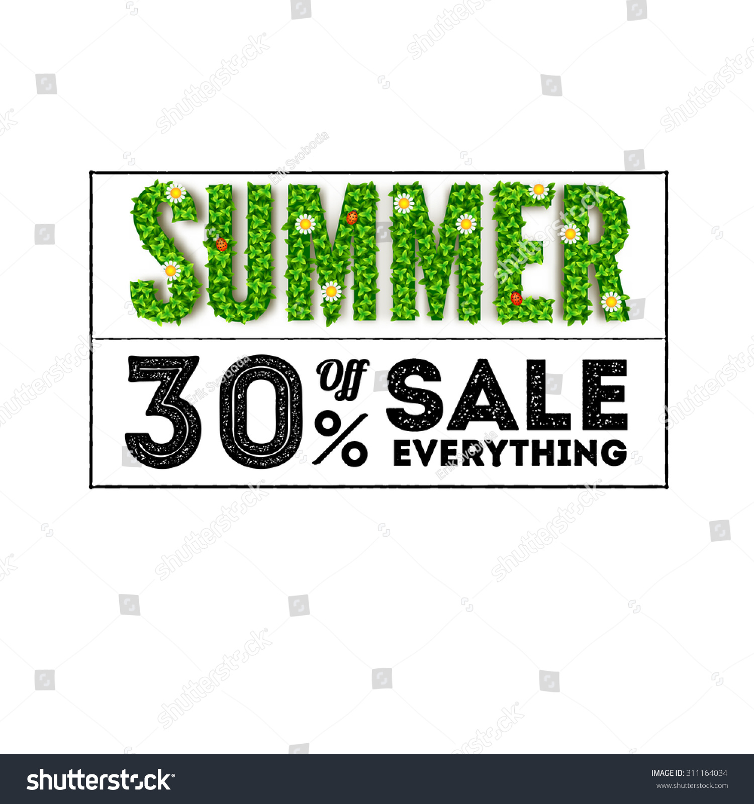 Large Letters For Sale Gorgeous Summer Sale Large Letters Green Foliage Stock Vector 311164034 Design Decoration