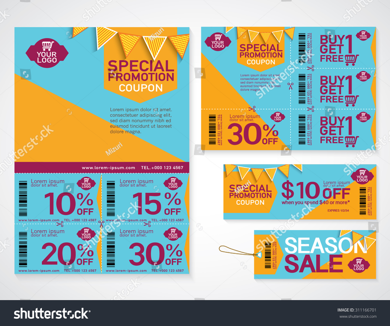 flyer promotions coupon banner design stock vector  flyer promotions coupon or banner design best discount offers special price