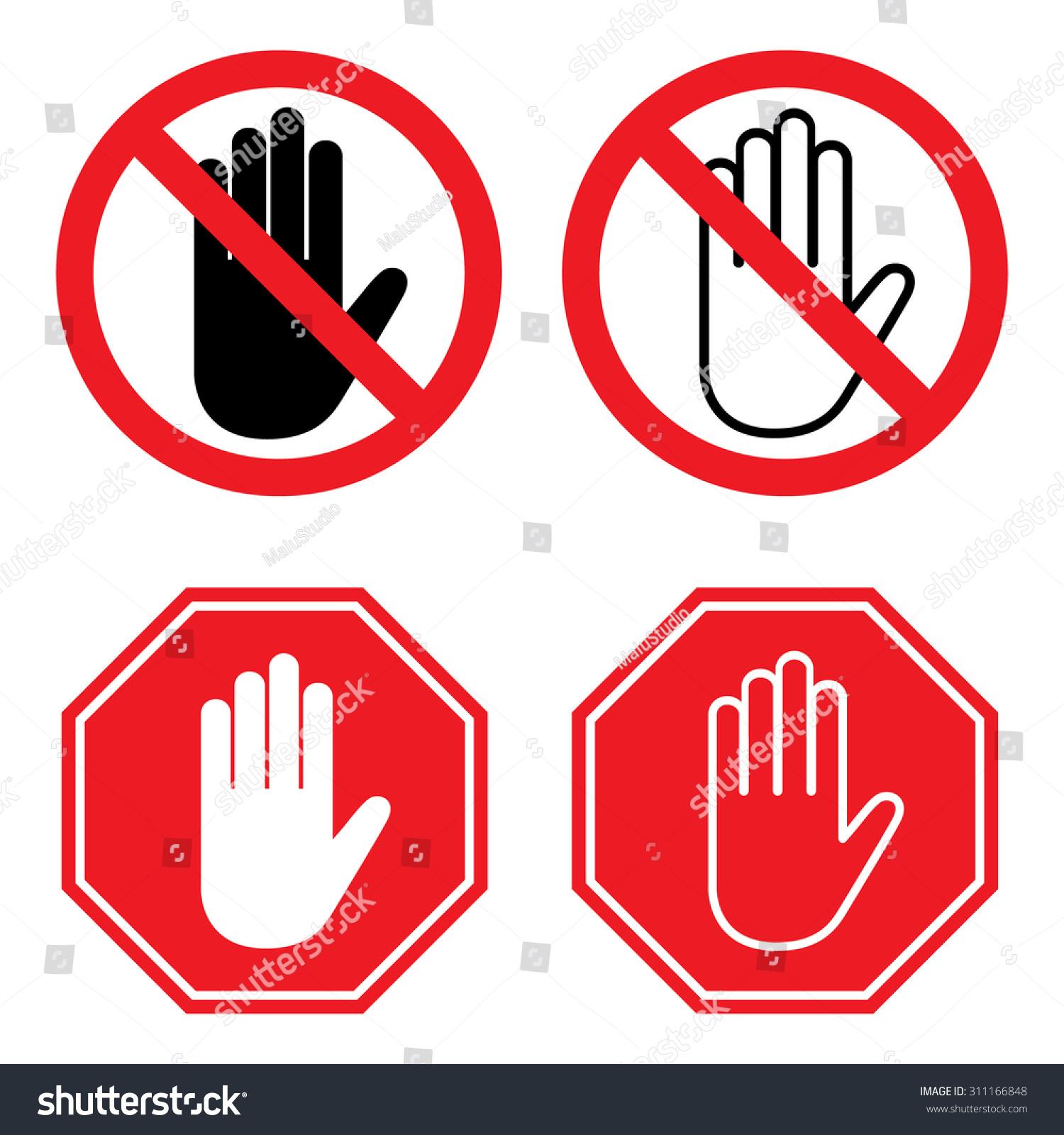 No entry hand sign stop sign stock vector 311166848 shutterstock no entry hand sign and stop sign with hand buycottarizona