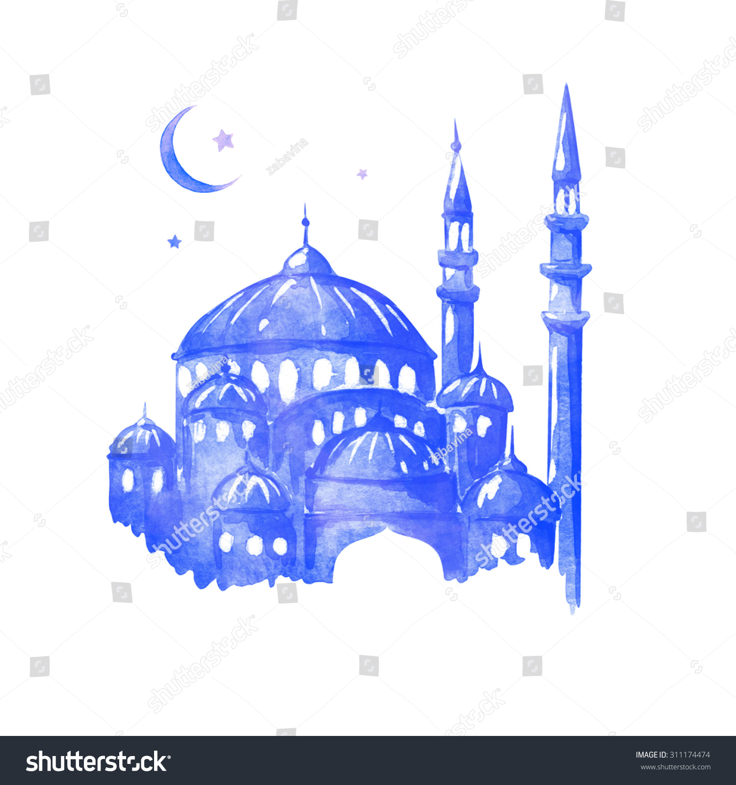 Ramadan Kareem Eid Al Adha Muslim Holiday Mosque Night Ramazan