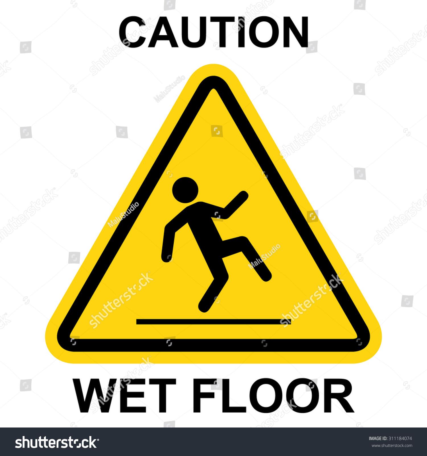 Wet floor warning sign stock vector 311184074 shutterstock for Floor banner