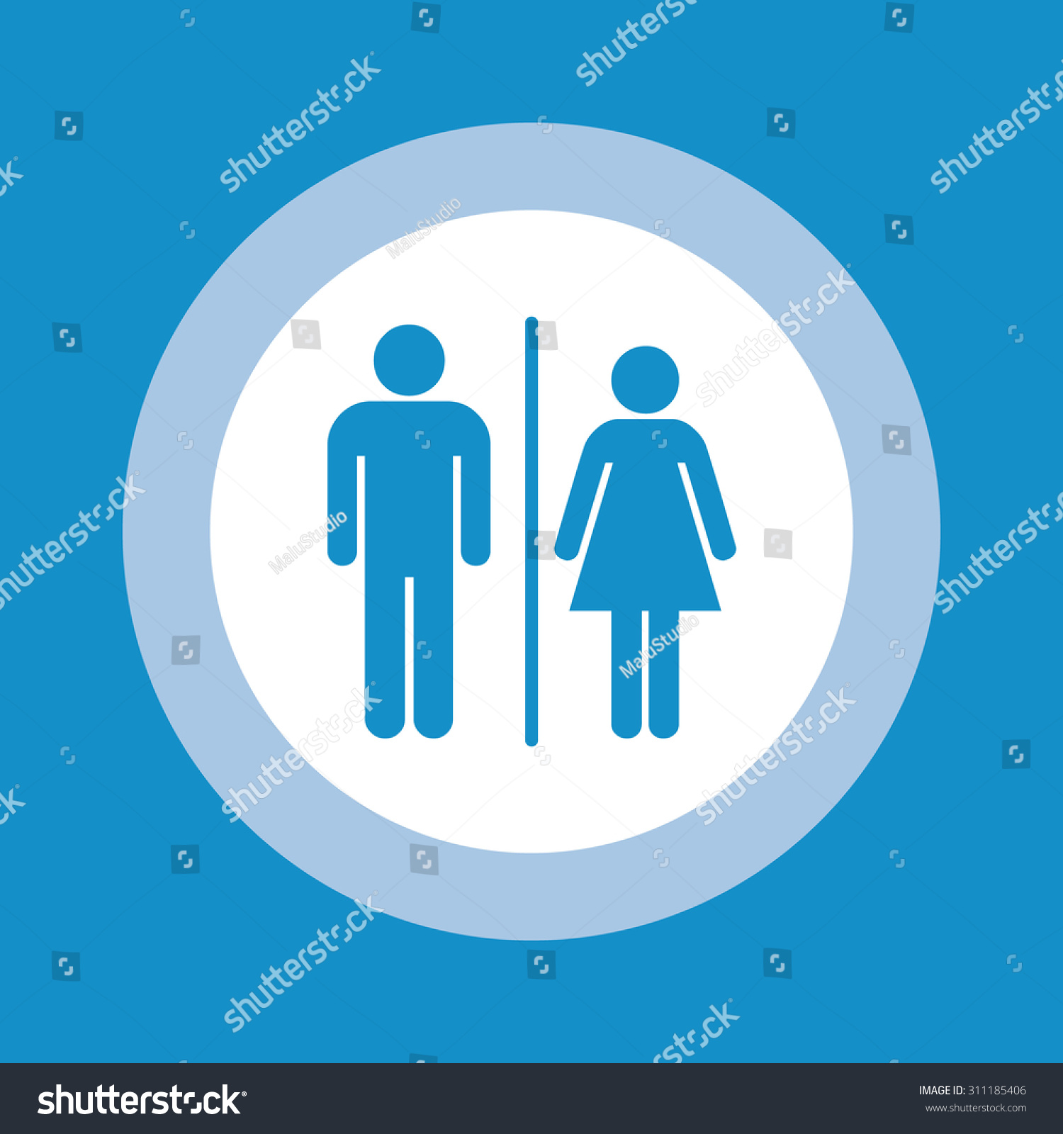 Toilet signs vector set stock images image 36323784 - Man Lady Toilet Sign People Icon Stock Vector 311185406 Shutterstock Stock Vector A Man And A