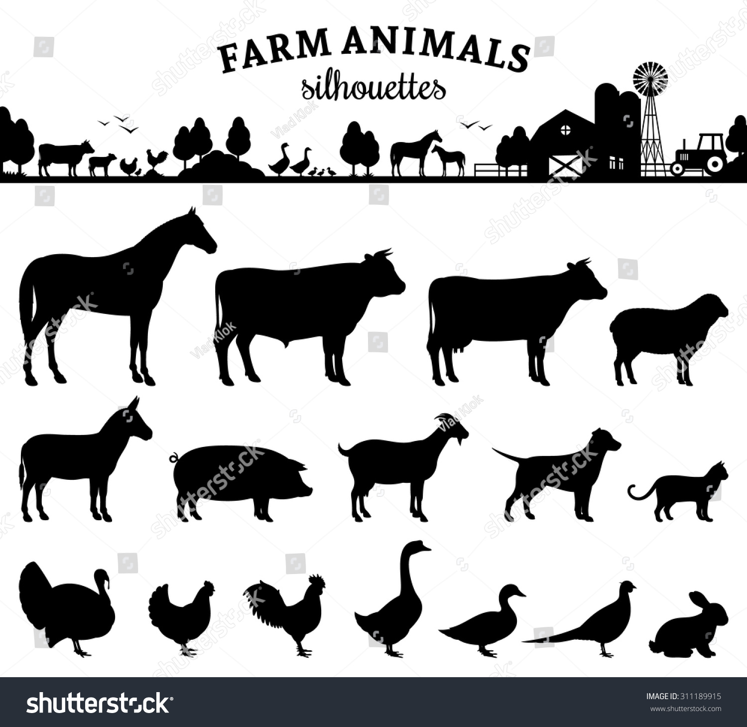 Silhouettes of a variety of woodland animals | Cartoon, Tops and ...