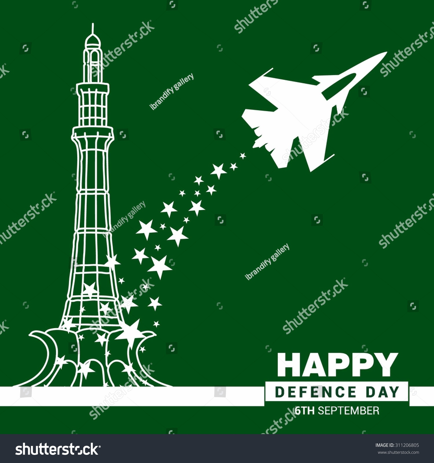 vector celebrating defence day 6 september stock vector royalty