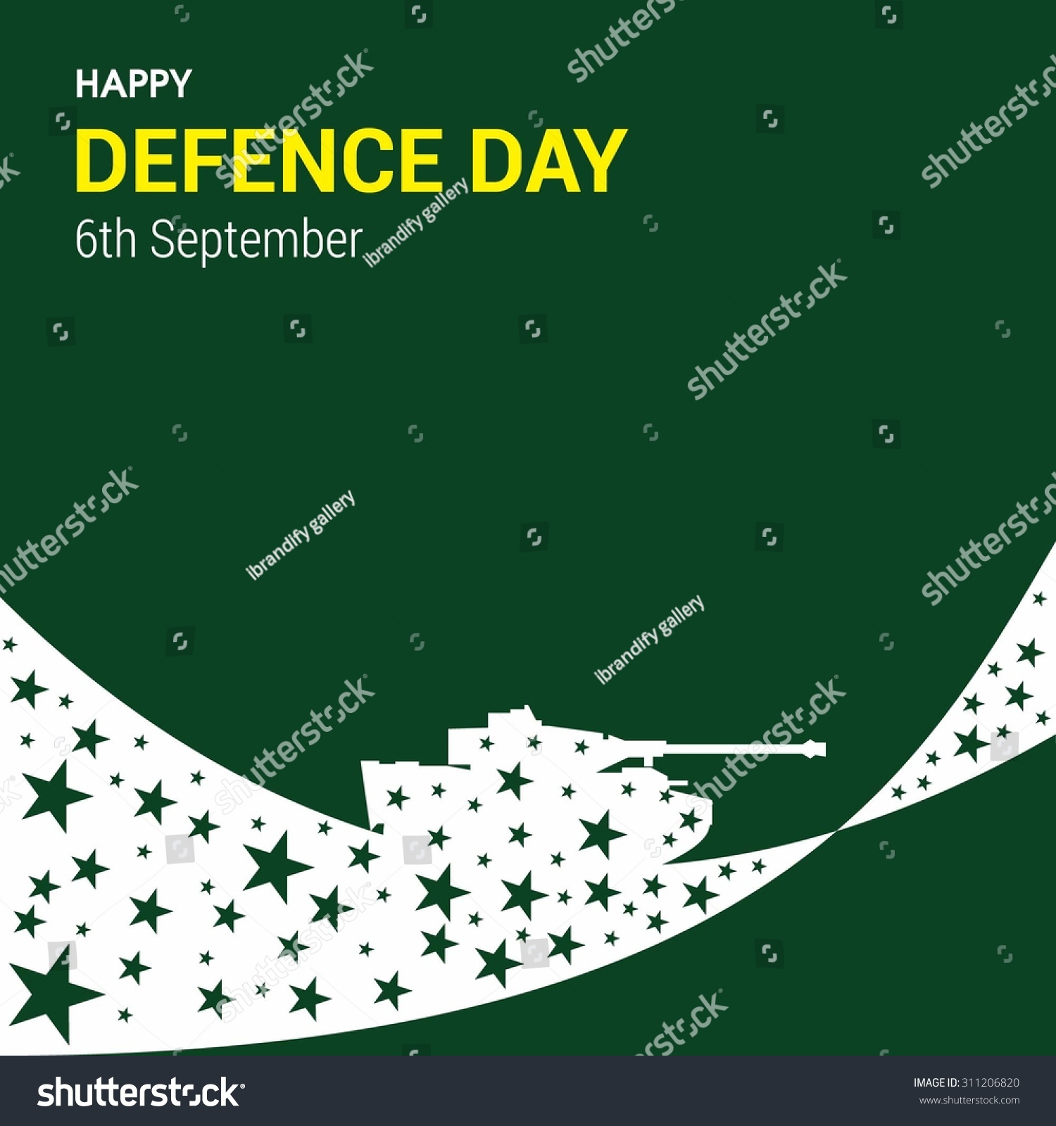 Happy Defence Day 6 September Quotes: Vector Happy Defense Day 6 September Stock Vector