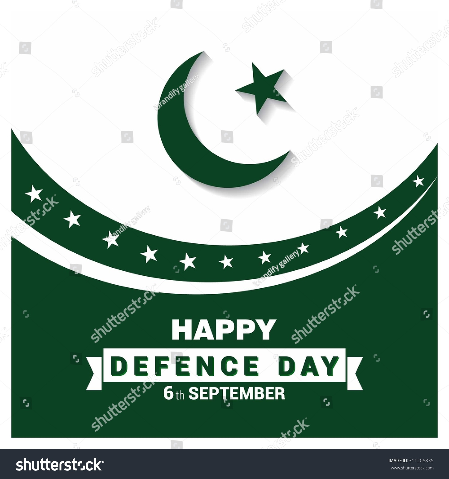 Happy Defence Day 6 September Quotes: Vector Happy Defence Day 6 September. Flag Color Design