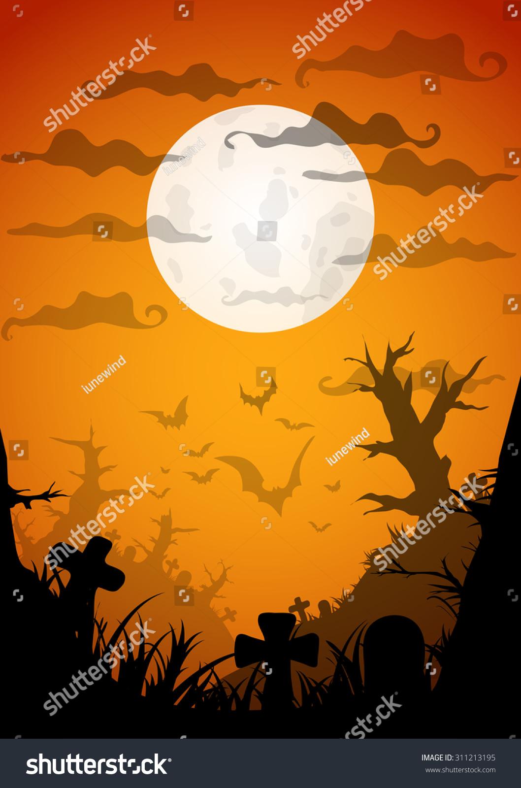 Halloween Party Orange Old Movie Style Stock Vector 311213195 ...