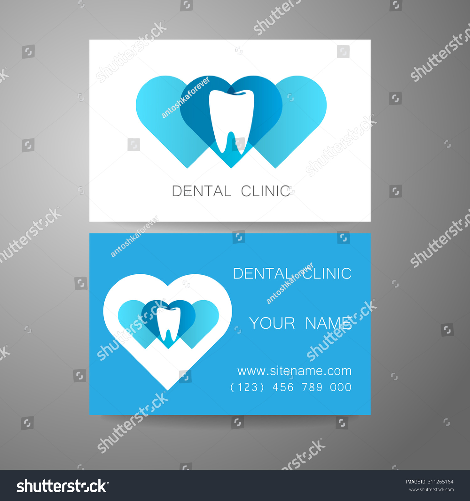 dental clinic template design logo corporate stock vector