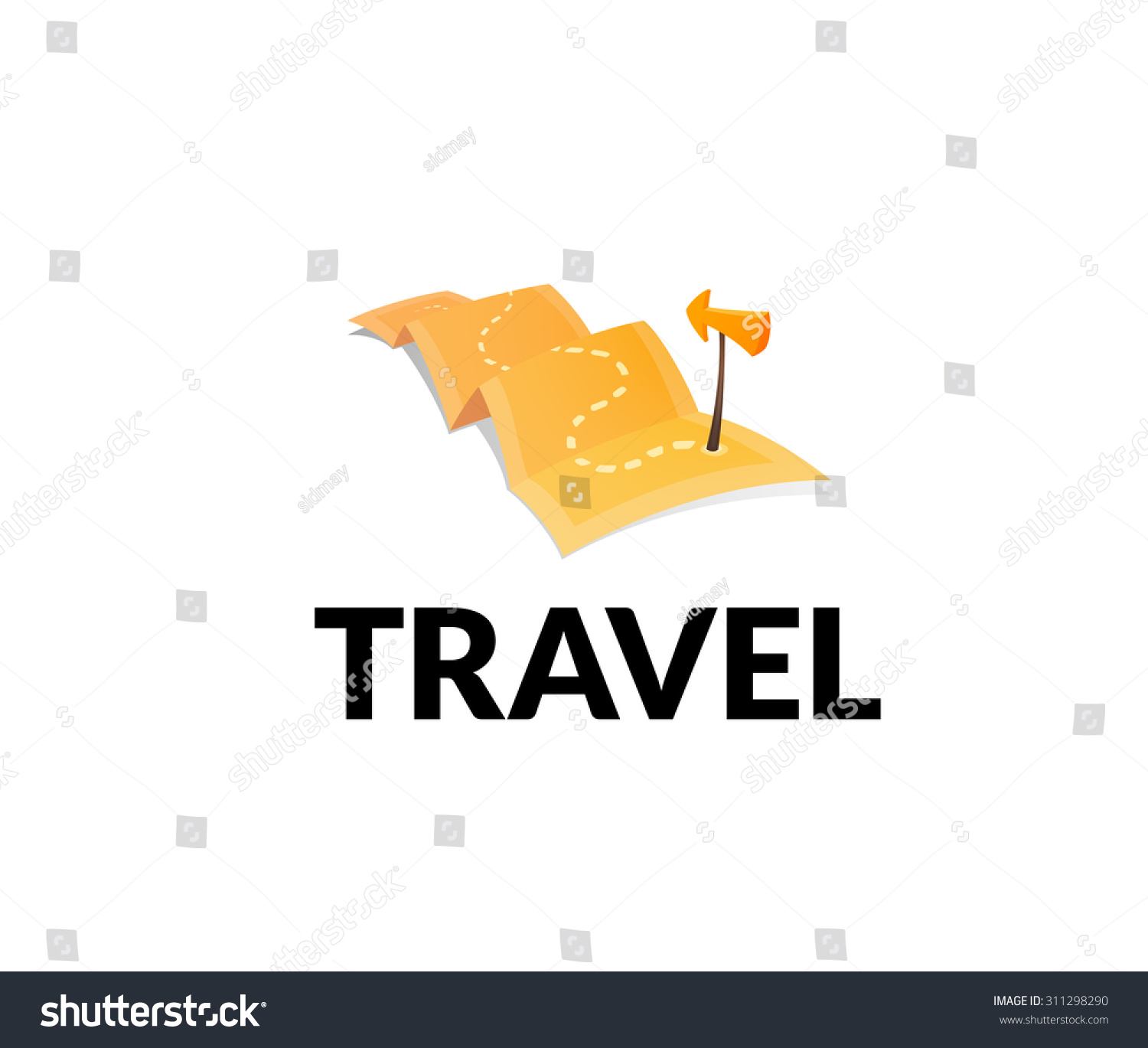 World Tour Concept Logo Isolated On White Background Long Route – Travel Marker Map