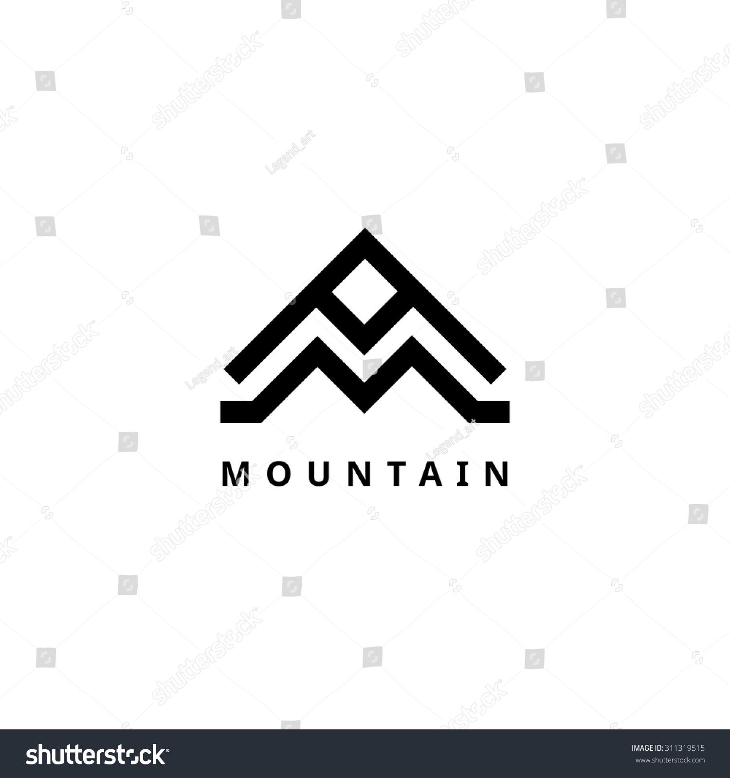 Mountain Vector Logo Template Travel Adventure Stock ...