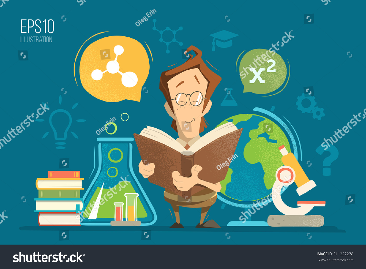 Deciding stock illustrations royalty free gograph - School Education Colorful Vector Illustration Concept Young Schoolboy Boy Child Kid Pupil Holding And Reading