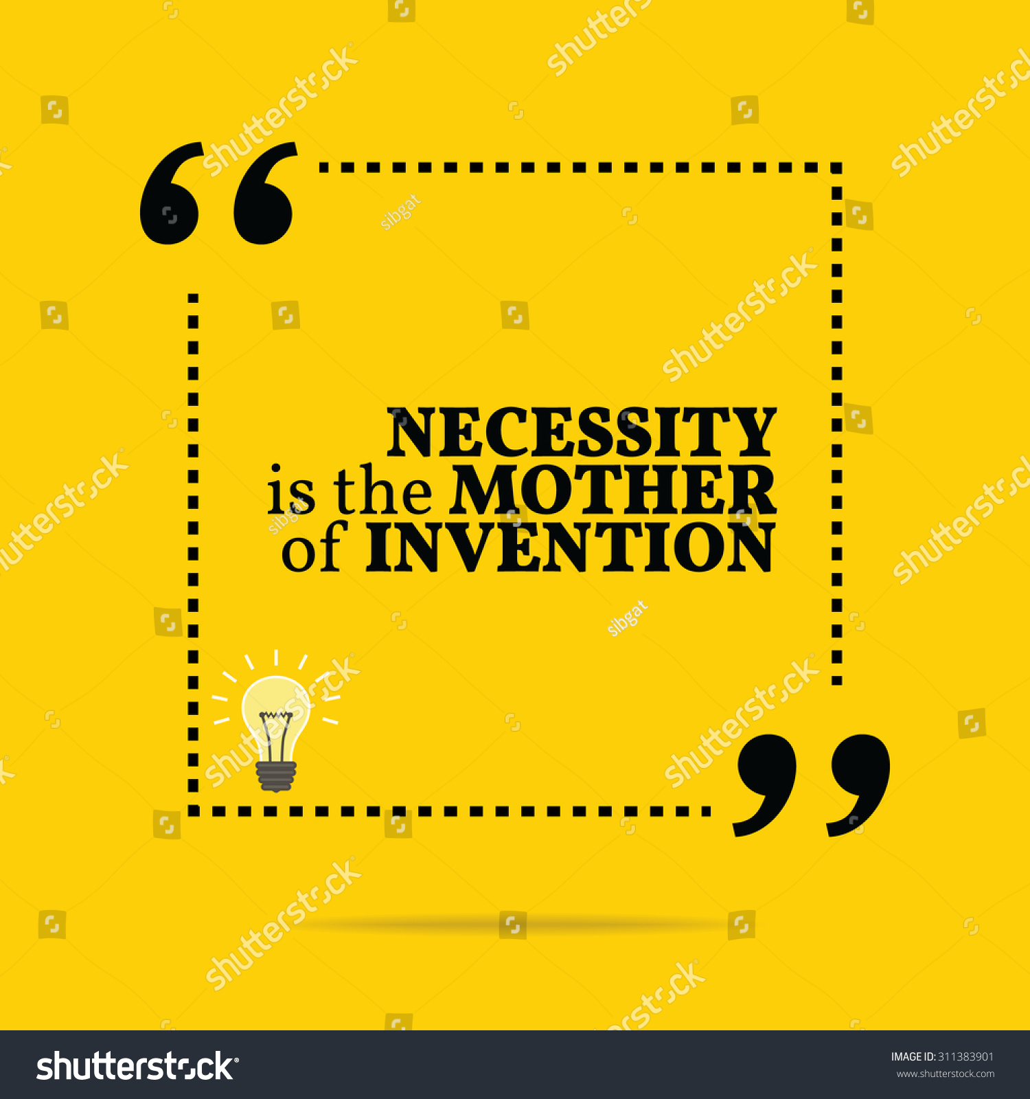 necessity is mother of invention It has been rightly said that necessity is the mother of inventions most of the inventions and discoveries owe their successful operation to necessity unless there is want we cannot struggle to attain the goal.