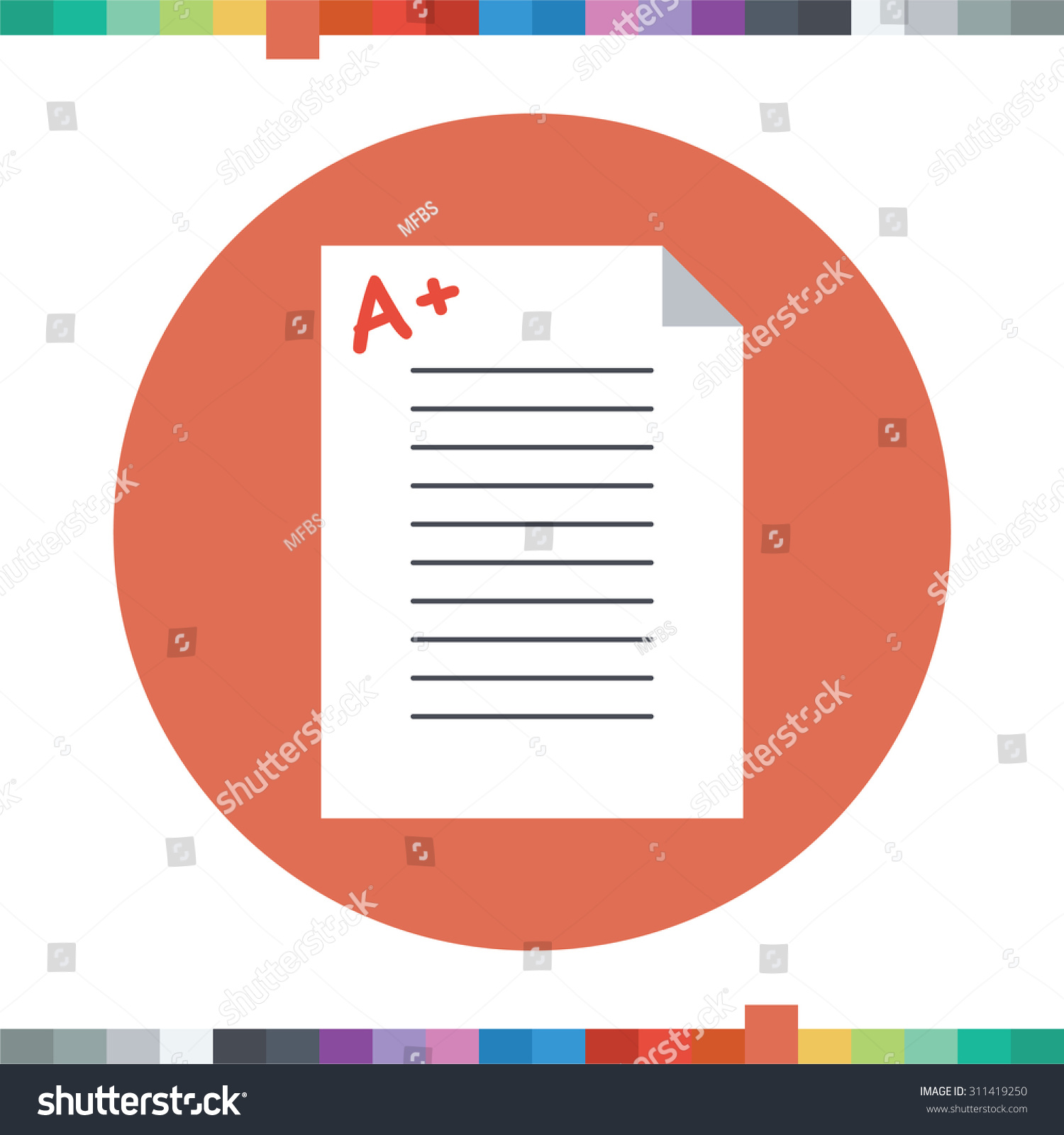 good grades icon plus sign on stock vector shutterstock good grades icon a plus sign on an exam paper