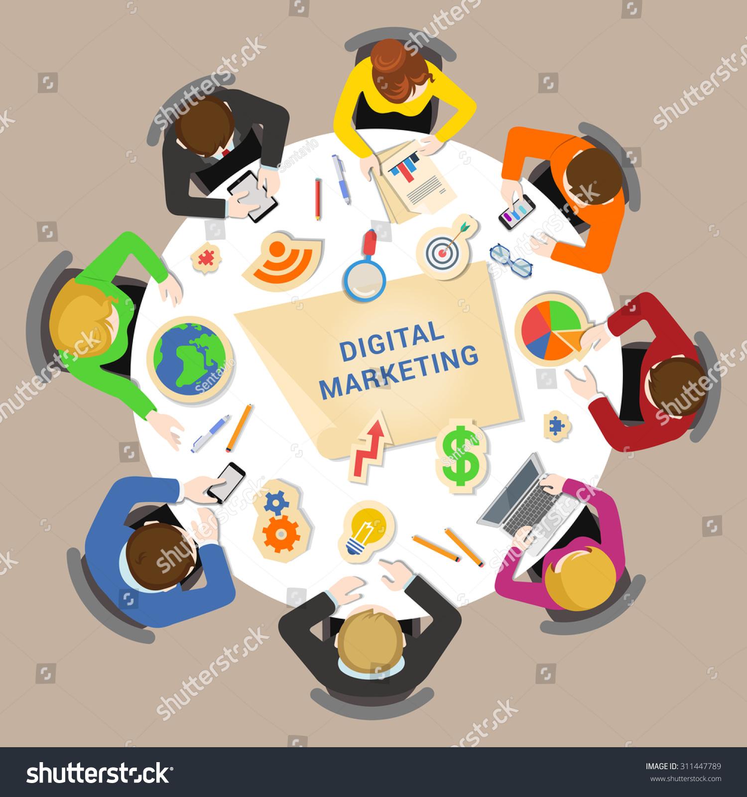 Stock Vector Digital Marketing