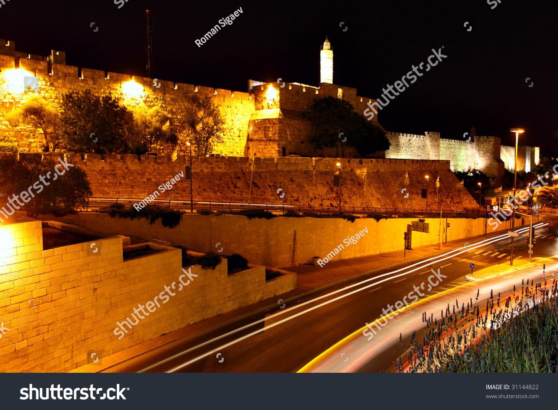 David Tower, Old City Surrounding Walls And Urban View Of ...   Cities Surrounding Jerusalem