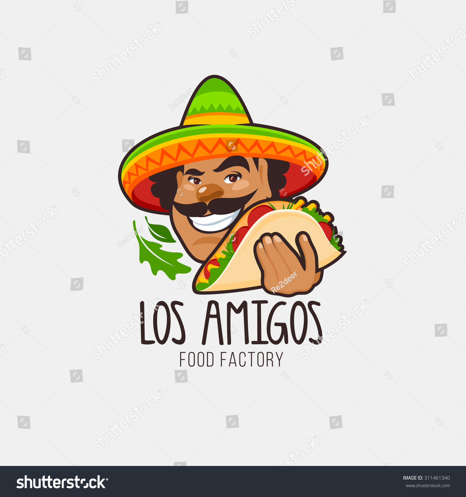 Mexican food logo vector logo design template male with for Mexican logos pictures