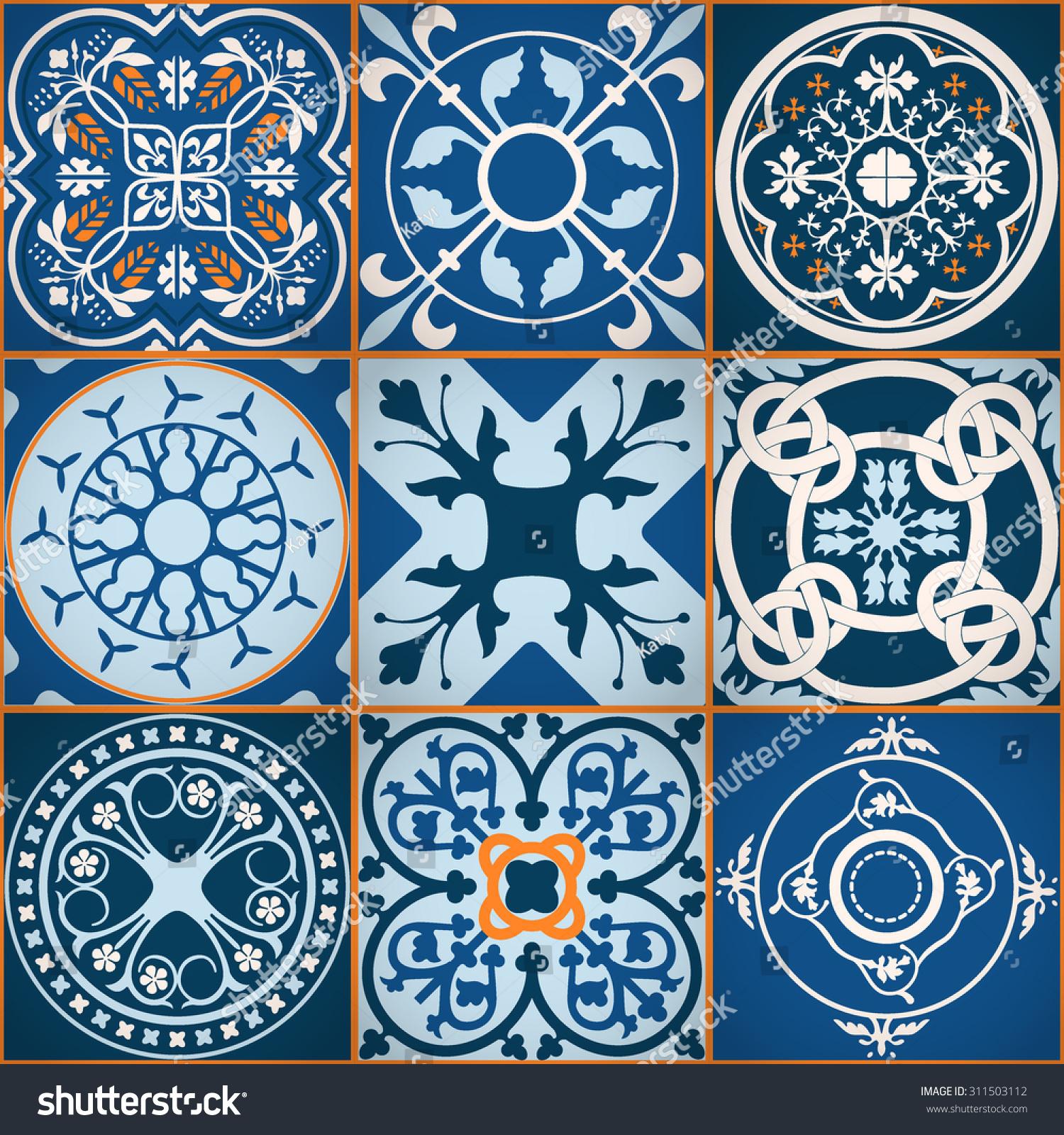 Vector of moroccan tile seamless pattern tile for design tile - Vector Illustration Of Moroccan Tiles Seamless Pattern For Design Website Background Banner