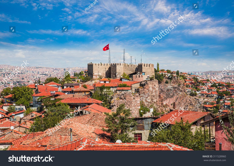 Ankara Castle, Ankara Capital City Of Turkey Stock Photo ...