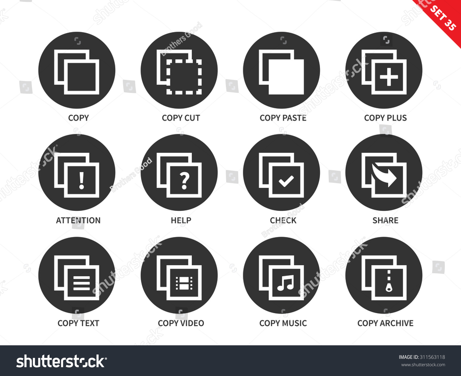 Copy files vector icons set computing stock vector 311563118 copy files vector icons set computing and technology concept icons for apps presentations buycottarizona Images