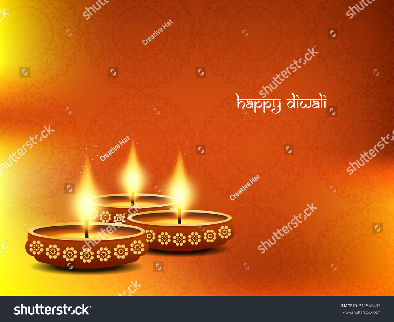 Happy Diwali elegant vector background design