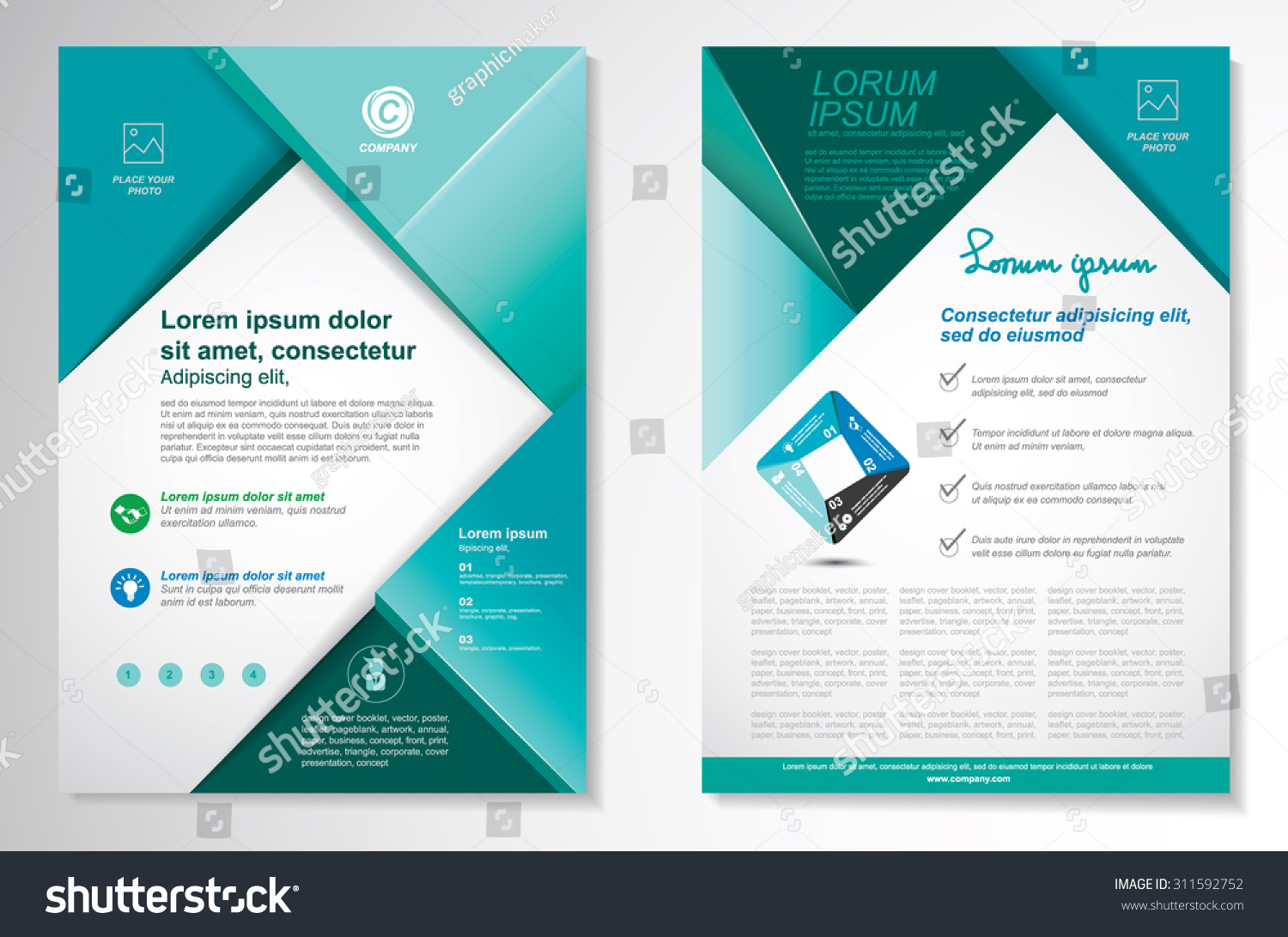 vector brochure flyer design layout template stock vector vector brochure flyer design layout template size a4 front page and back page