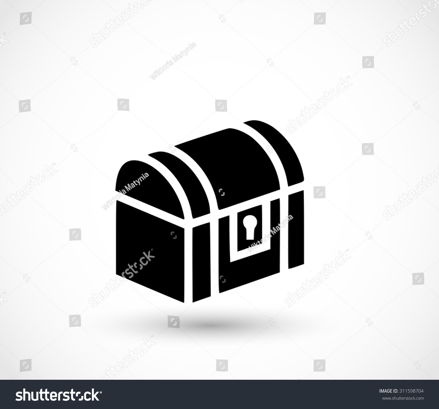 Treasure Chest Icon Vector Stock Vector 311598704 ...