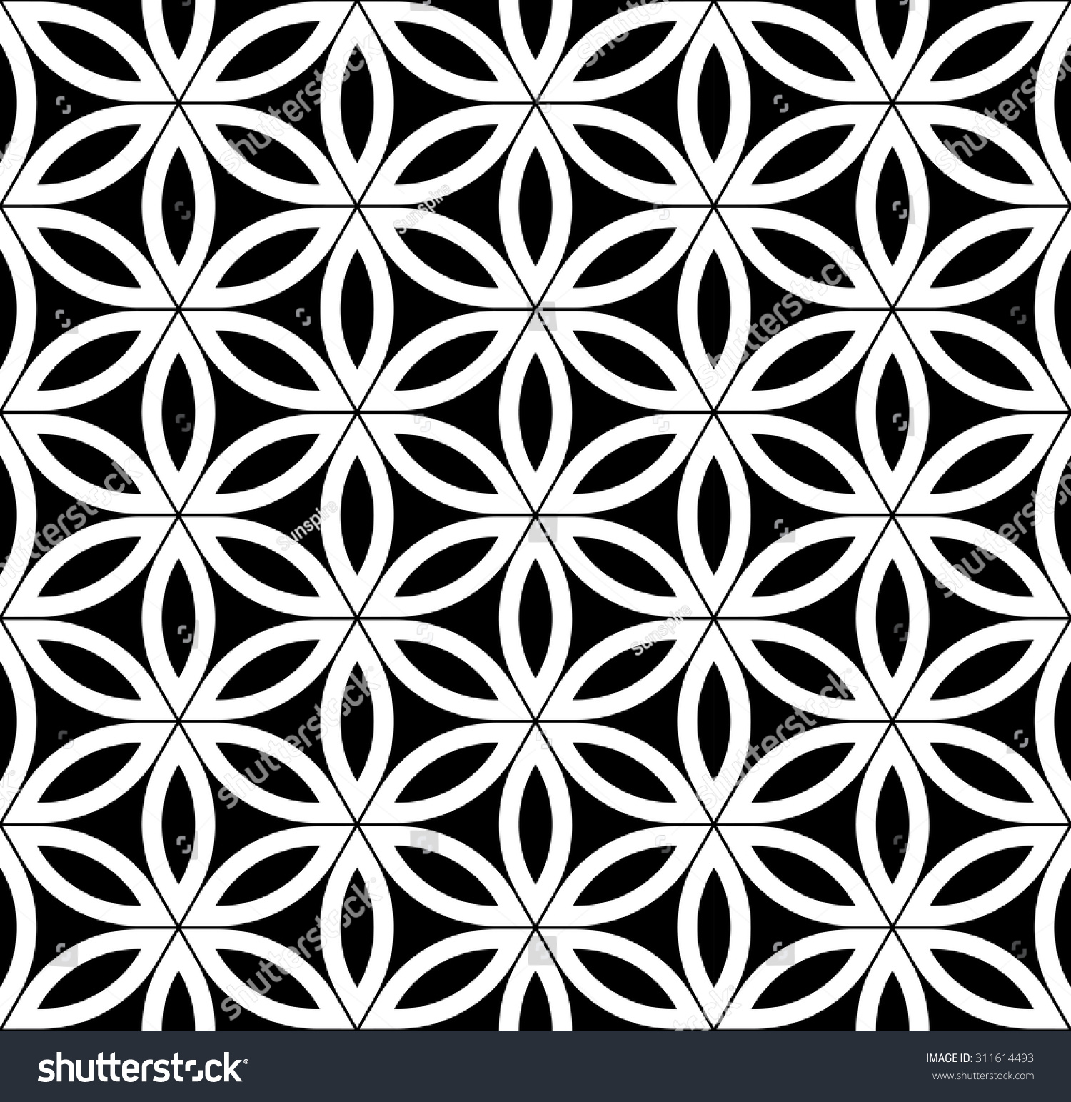 White bed sheet texture seamless - Vector Modern Seamless Pattern Flower Of Life Black And White Textile Print Stylish Background