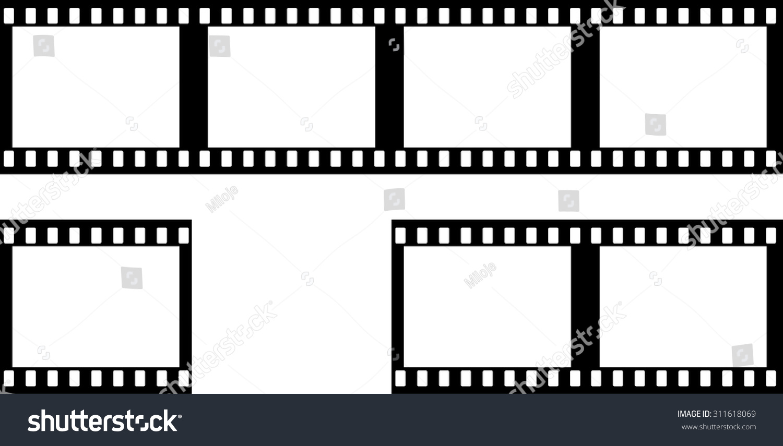Grunge Filmstrip Border Frame Photo Album Stock Vector (Royalty Free ...