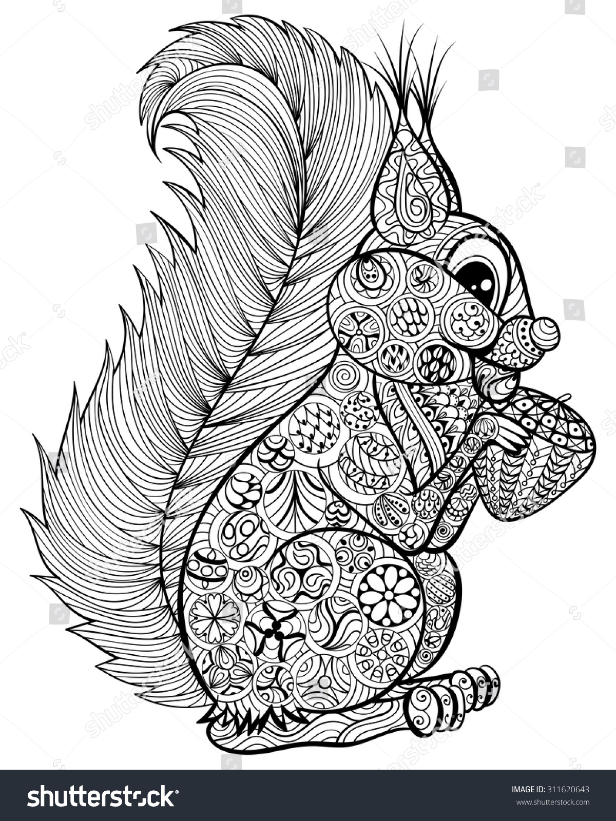 Printable Squirrel Coloring Pages Stress Relief Printable