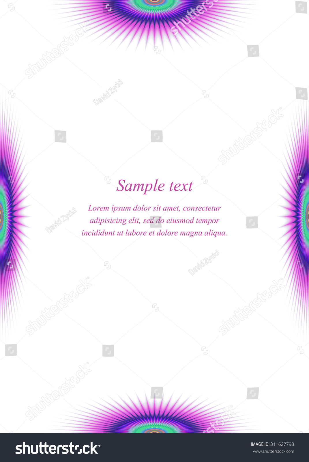 Colorful Page Border Design Template Invitation, Greeting, Presentation,  Card, Letter, Paper  Paper Border Designs Templates
