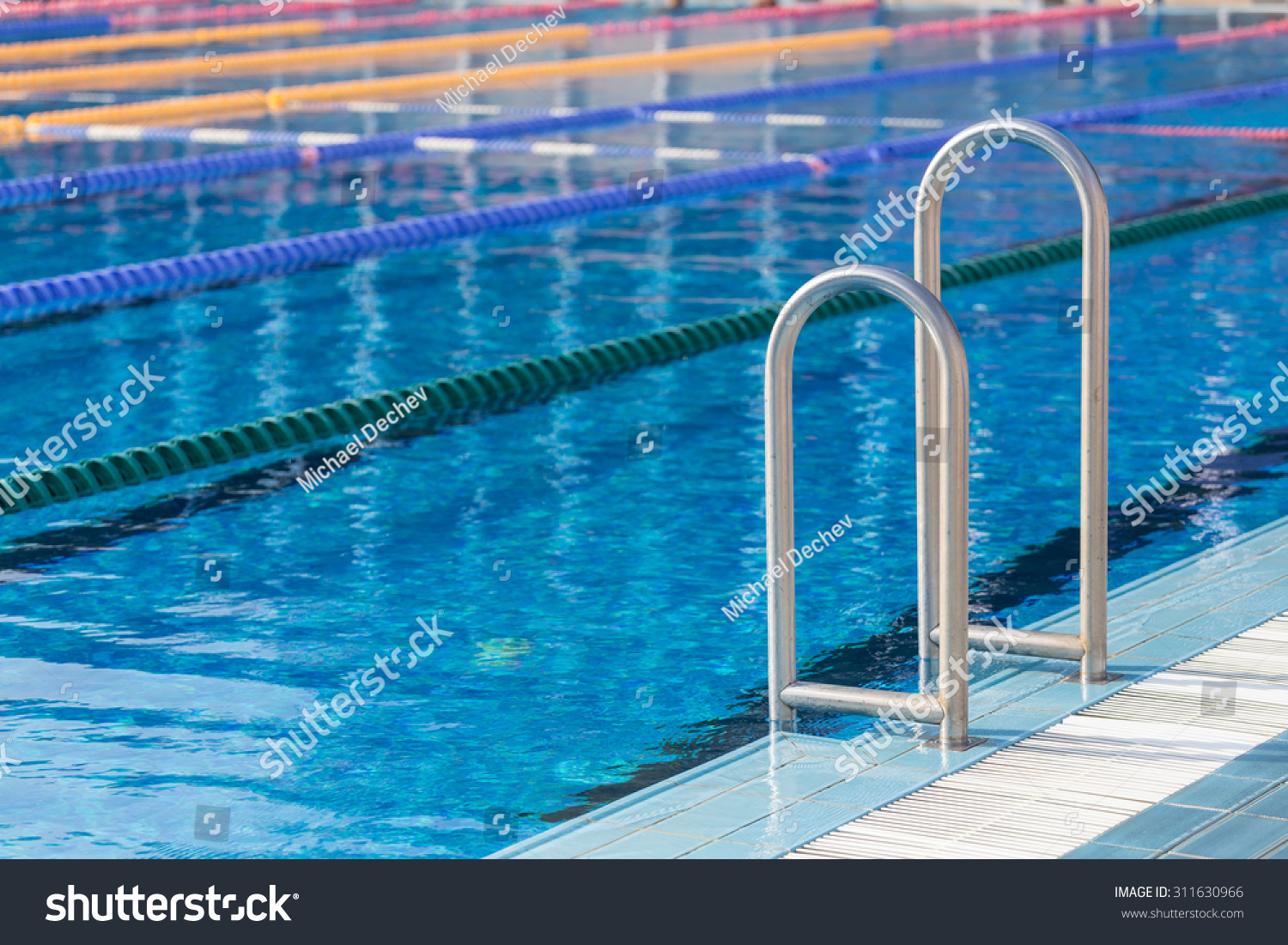 Detail Olympic Swimming Pool Swim Lanes Stock Photo 311630966 Shutterstock