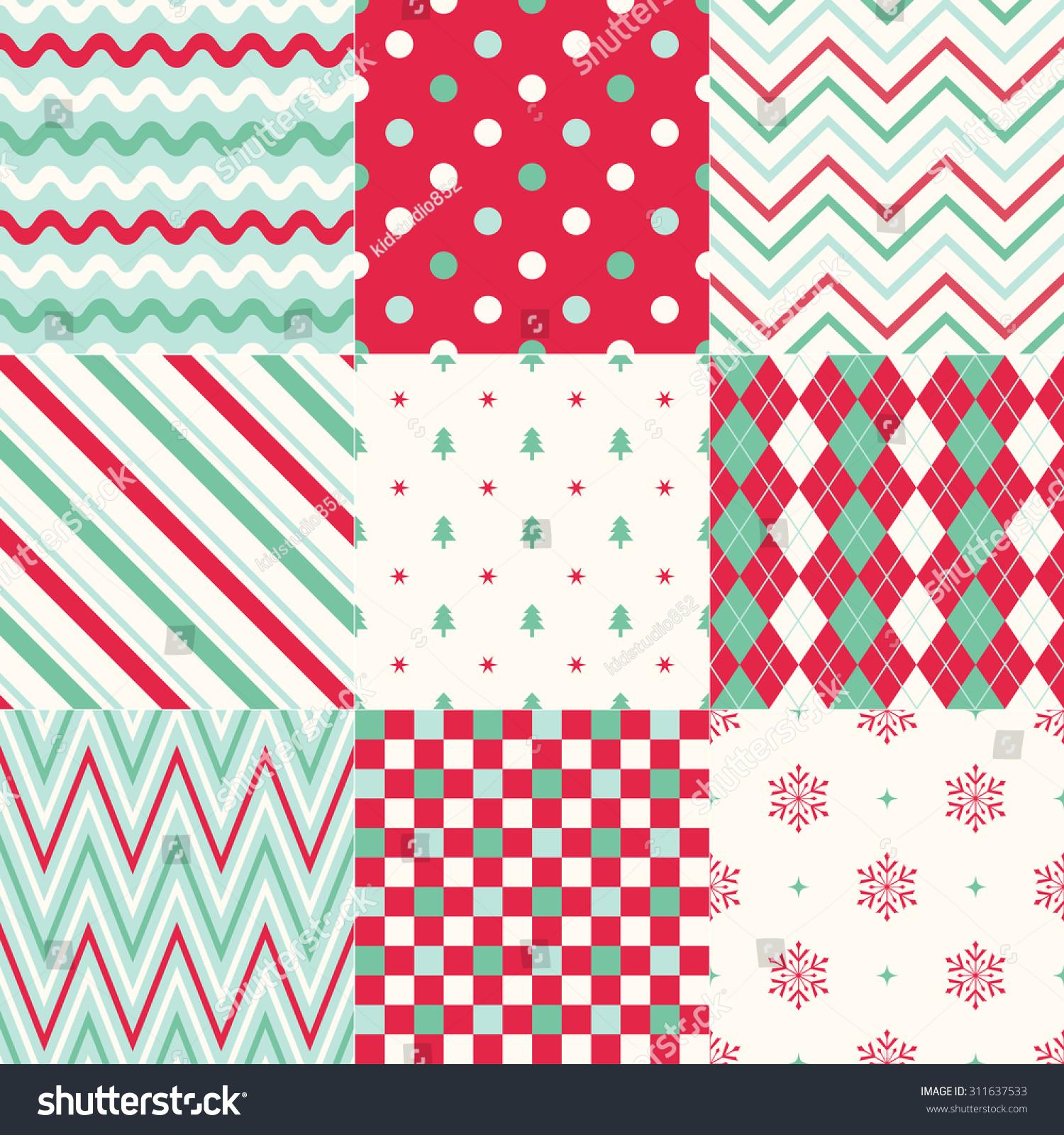 Pics photos merry christmas argyle twitter backgrounds - Seamless Background Christmas Geometric Pattern