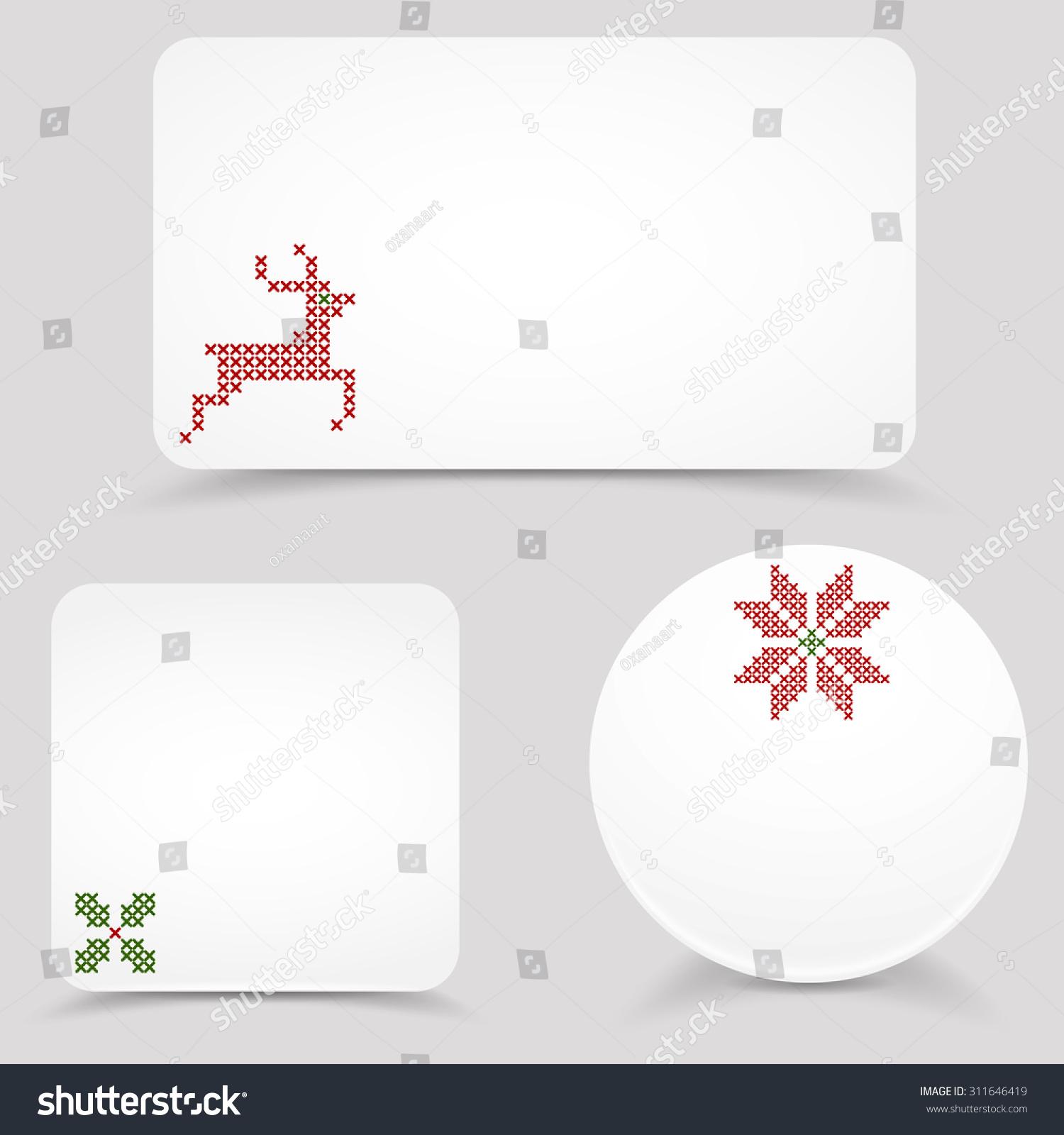 Christmas Vector Banners Mock Ups Blank Stock Photo (Photo, Vector ...