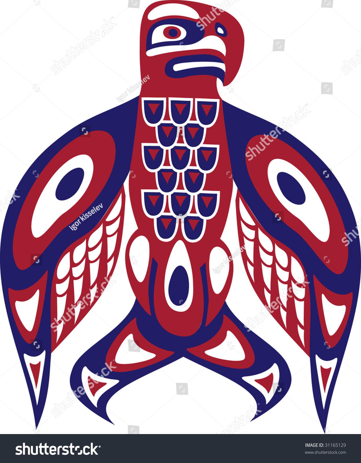 Bird North American Indian Art Stylization Stock Vector 31165129 ...
