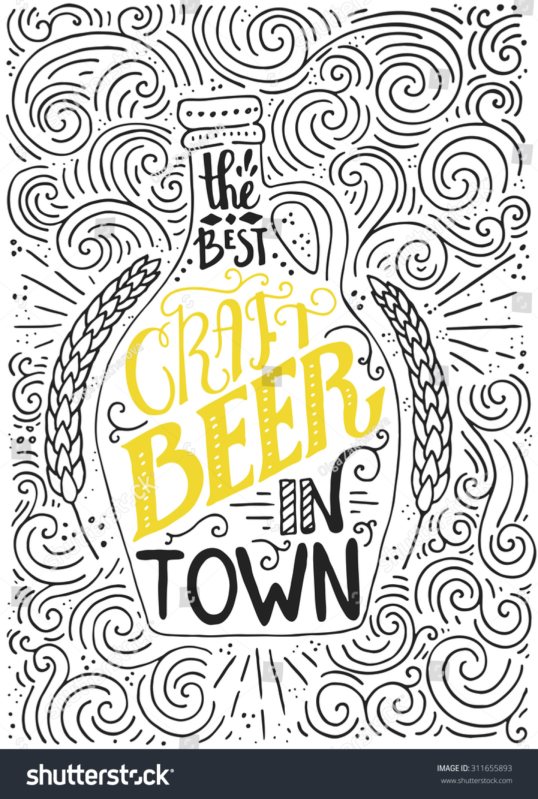 Royalty Free Handdrawin Lettering For Beer House 311655893 Stock