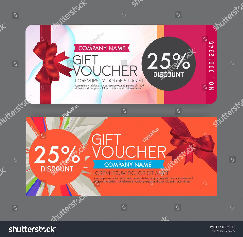 Gift Voucher Template Stock-Vektorgrafik 311693213 – Shutterstock