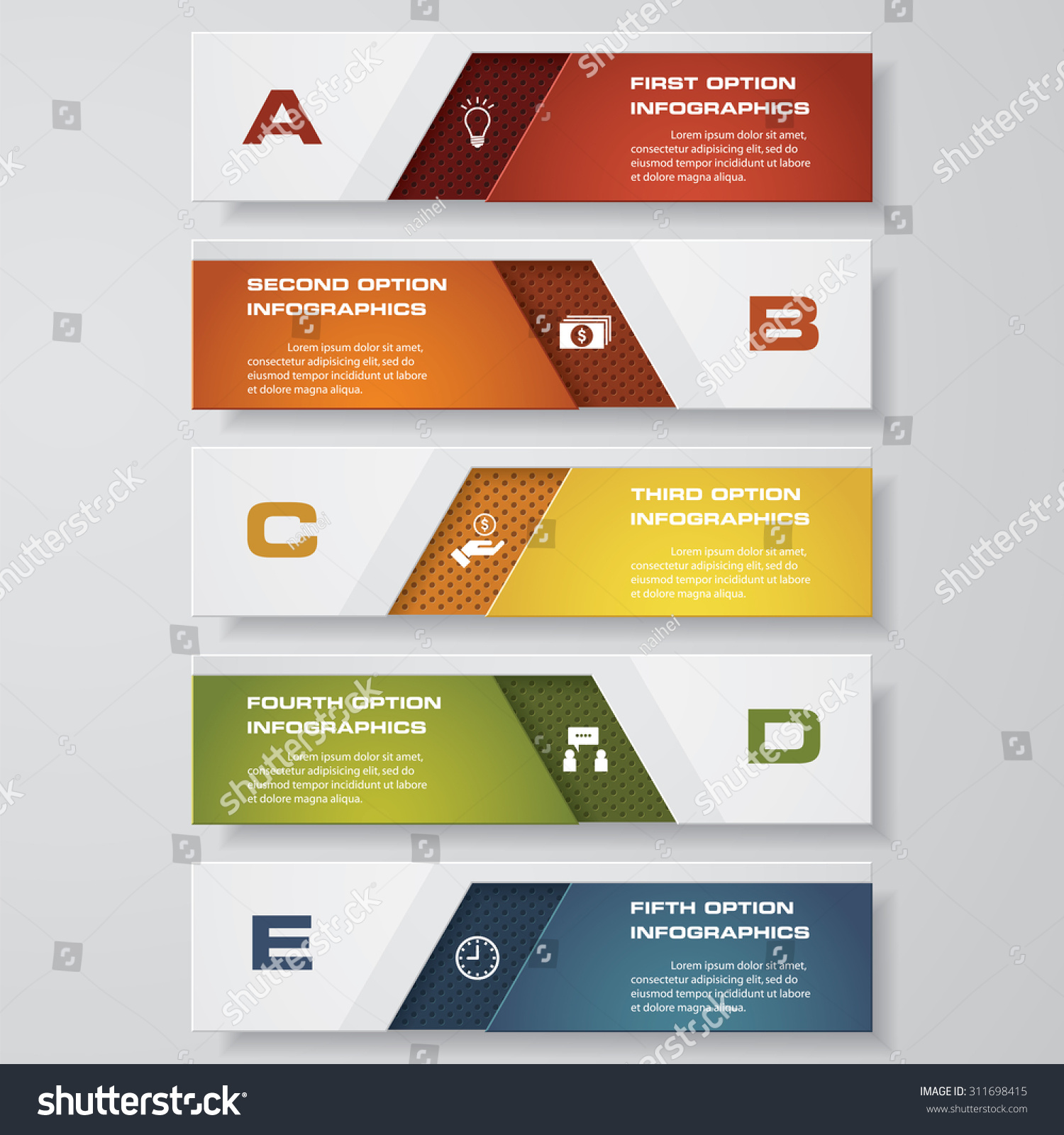 design clean number banners templatetags website stock vector 2018
