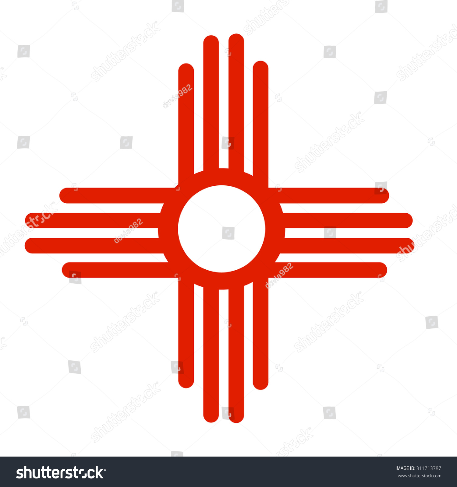 Ancient sun symbol zia native american stock vector 311713787 ancient sun symbol of the zia a native american tribe this symbol appears on biocorpaavc Images