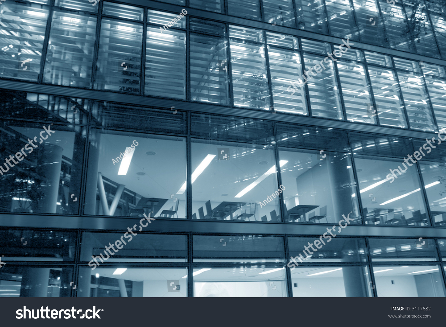 Building Front Glass Elevation : Hitech glass elevation modern office building stock photo