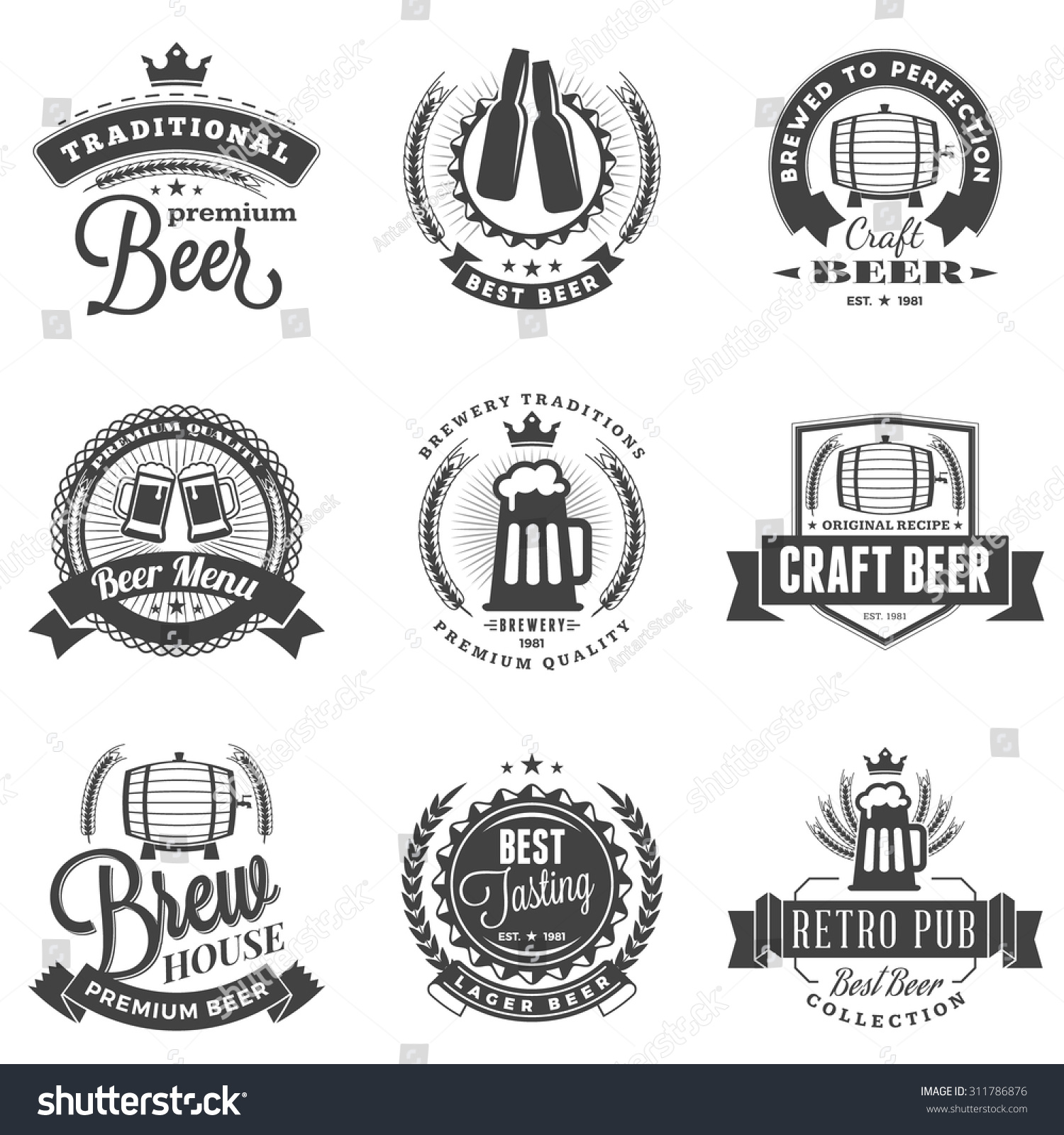 This is an image of Superb Black Label Beer Logo