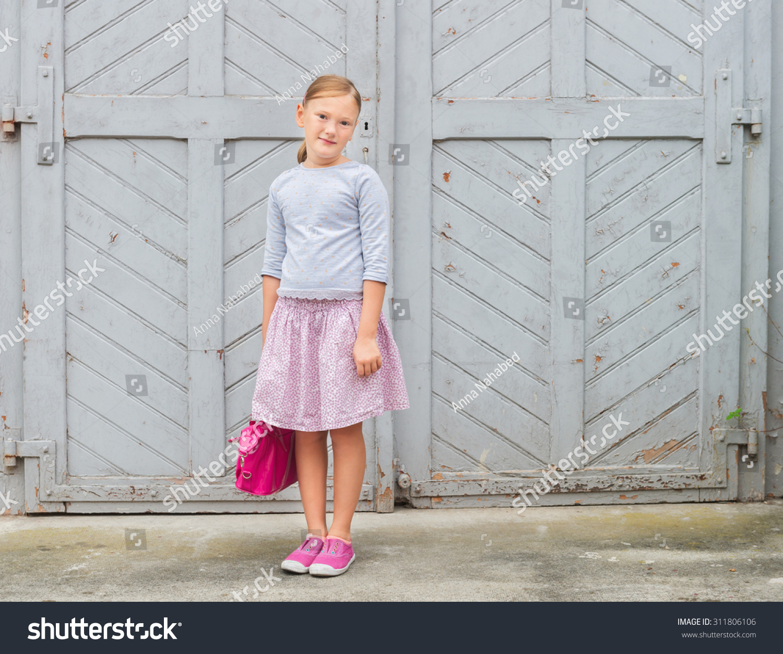 48f578fff Fashion Portrait Cute Little Girl 8 Stock Photo (Edit Now) 311806106 ...