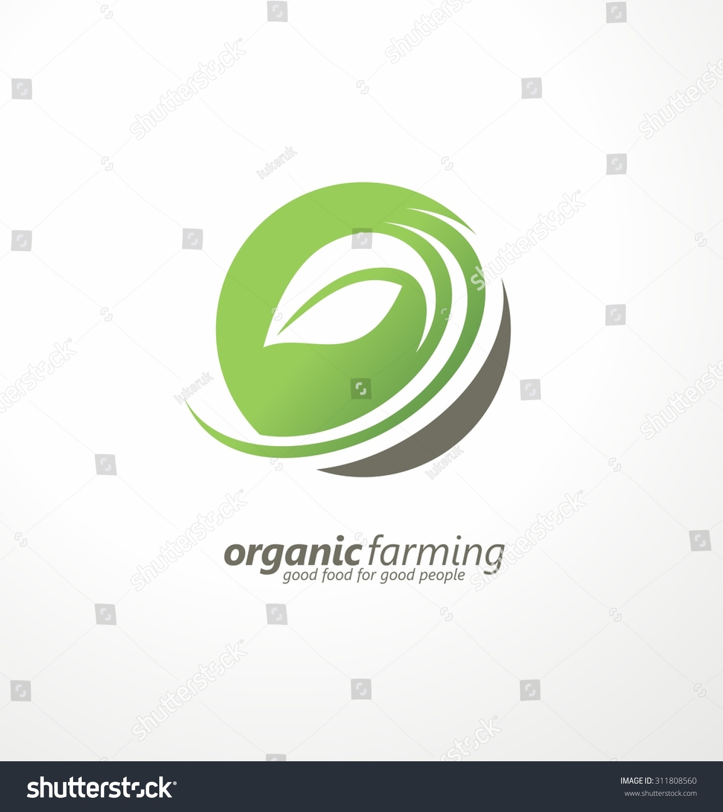 organic farming logo design idea good food for good people creative symbol concept farm logo - Design Idea