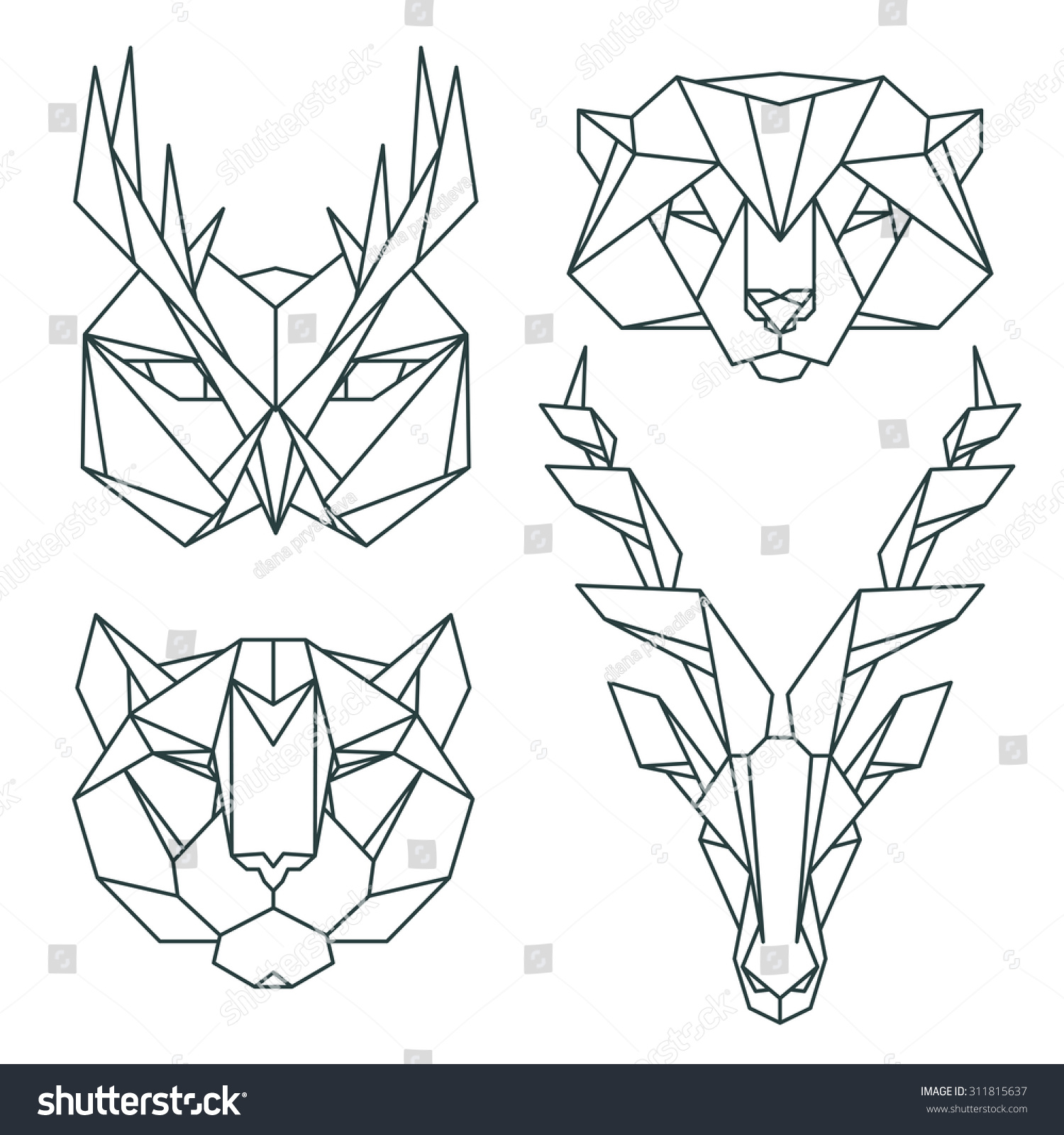 Animal Icons Vector Icon Set Abstract Stock Vector ... - photo#47