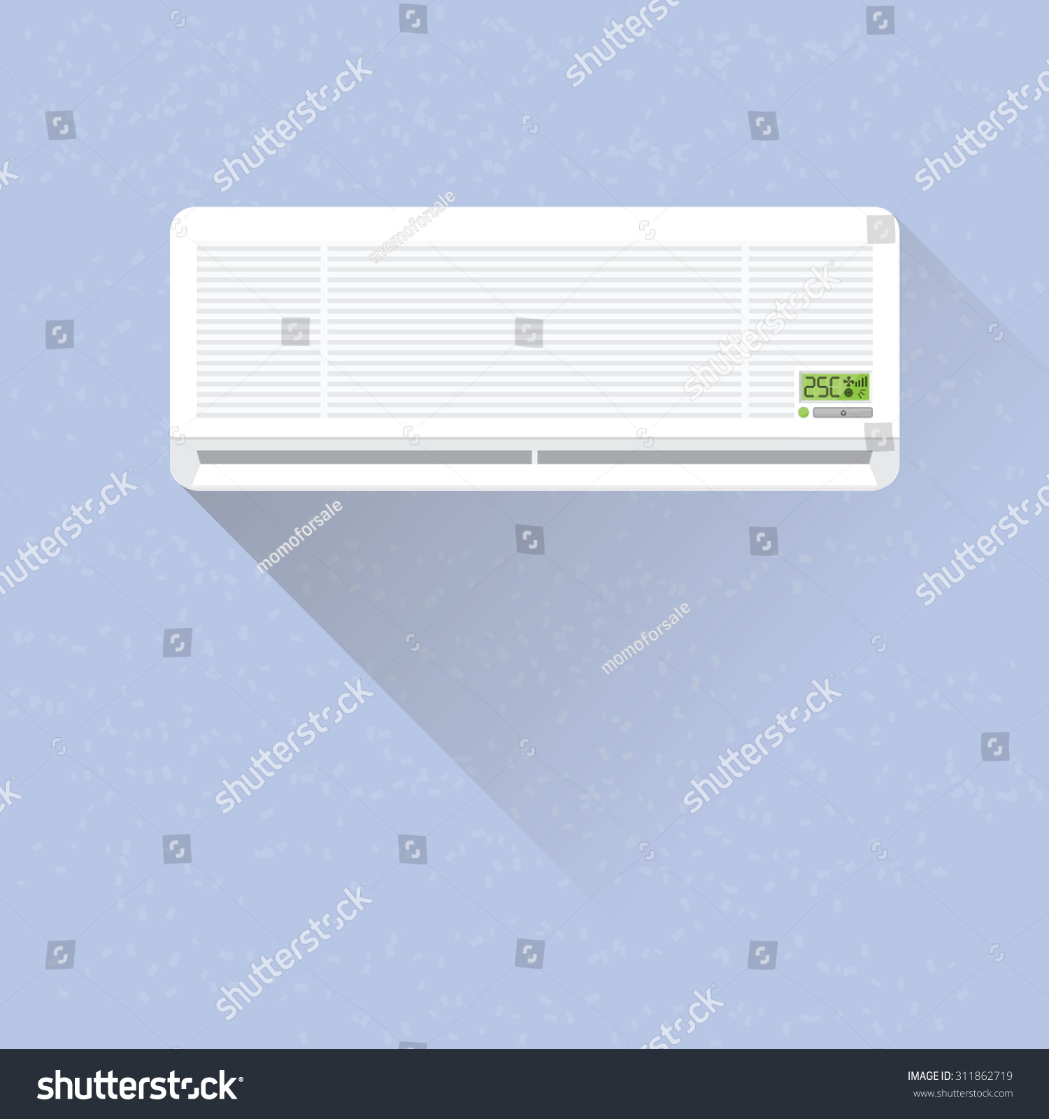 Air Conditioner On Wall Stock Vector 311862719 Shutterstock #6E9437