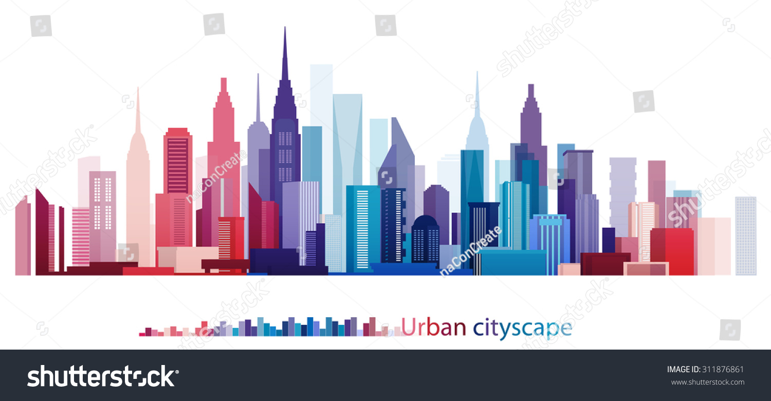Vector design colorful building city urban stock vector for Design in the city