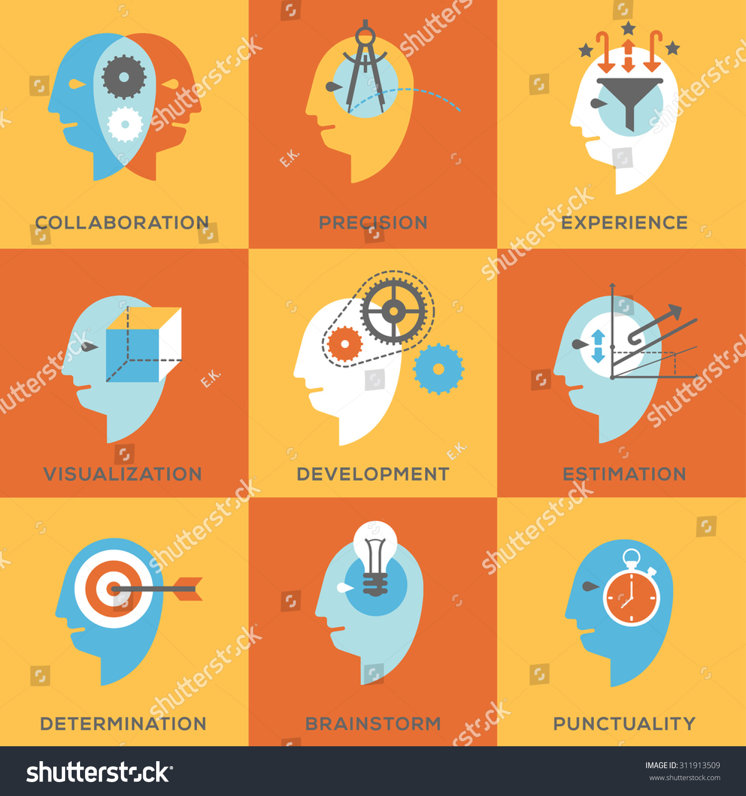 icon set representing symbols personal skills stock vector icon set representing symbols of personal skills essential for successful education and career personal
